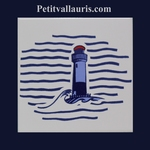 CARRELAGE MURAL BLANC COLLECTION MARINE MOTIF PHARE